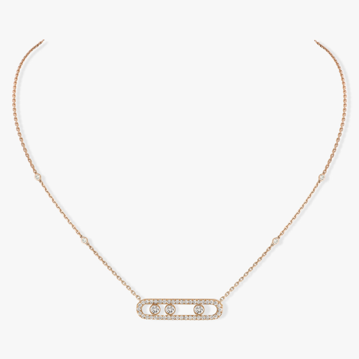 Collier Messika Move Pavé Or Rose 03994-PG