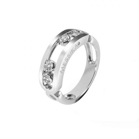 Bague Messika Move Classique Or Blanc 03998-WG