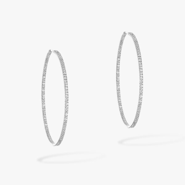 Boucle d'oreilles Messika Gatsby Or Blanc 04686-WG