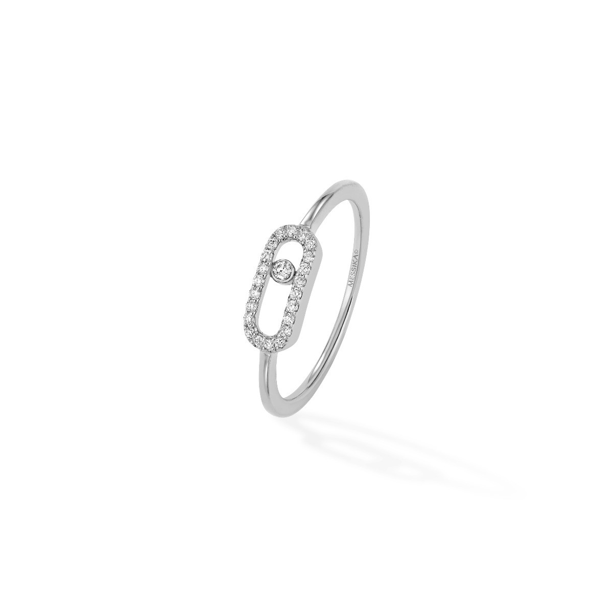 Bague Messika Move Uno Or Blanc 04705-WG