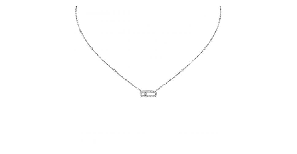 Collier Messika Move Uno Pavé Or Blanc 04708-WG