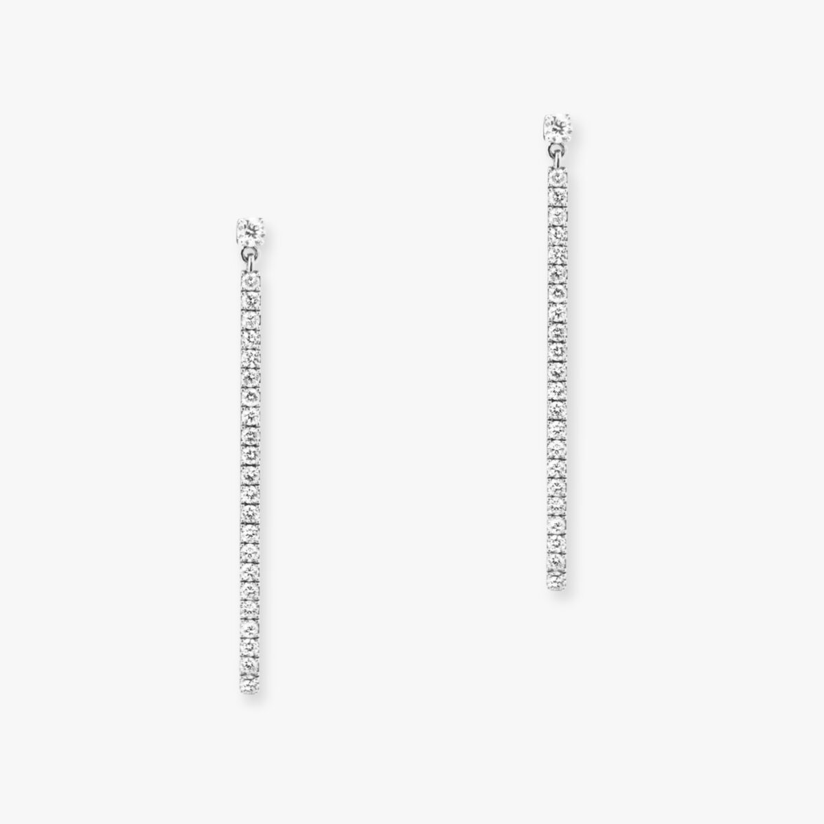 Boucles d'oreilles Messika Gatsby Or Blanc 05232-WG