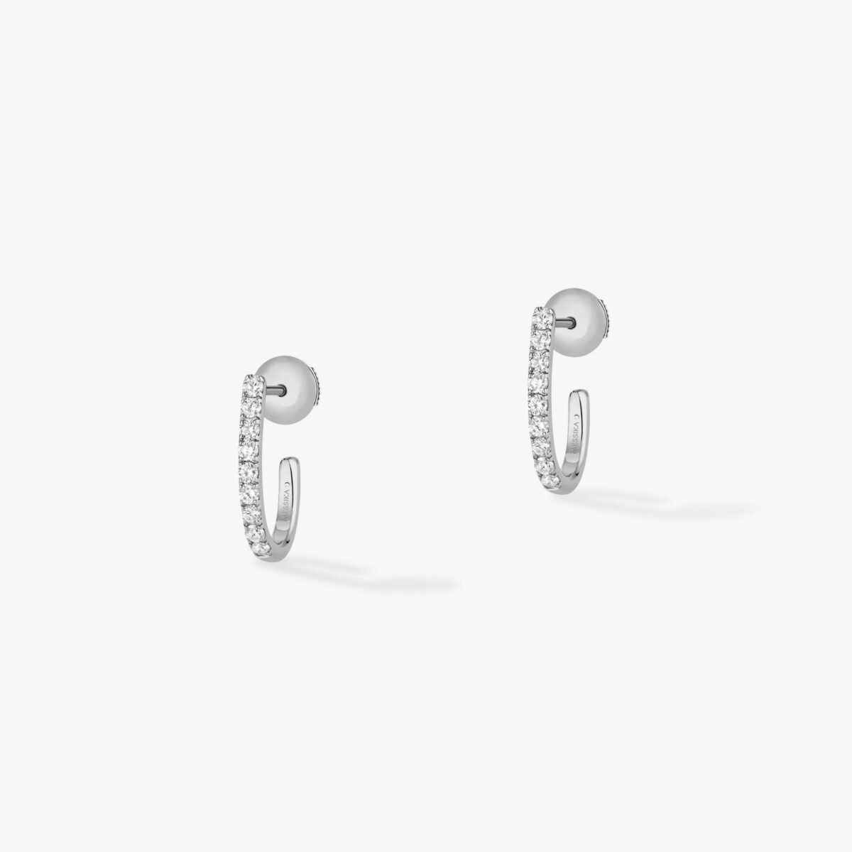 Boucles d'oreilles Messika Gatsby Or Blanc- 05741-WG