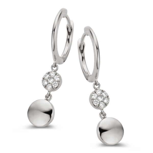 Boucles d'oreilles One More Eolo Or Blanc 060452A