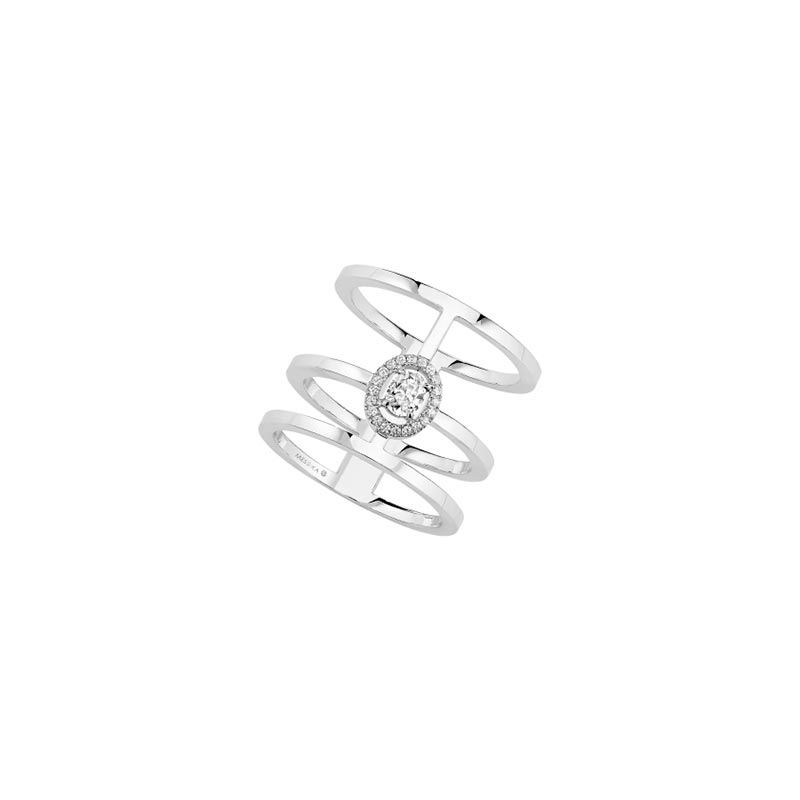 Bague Messika Glam'azone Or blanc 06312-WG