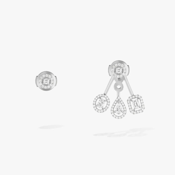 Boucles d'oreilles Messika My Twin Or Blanc 06527-WG