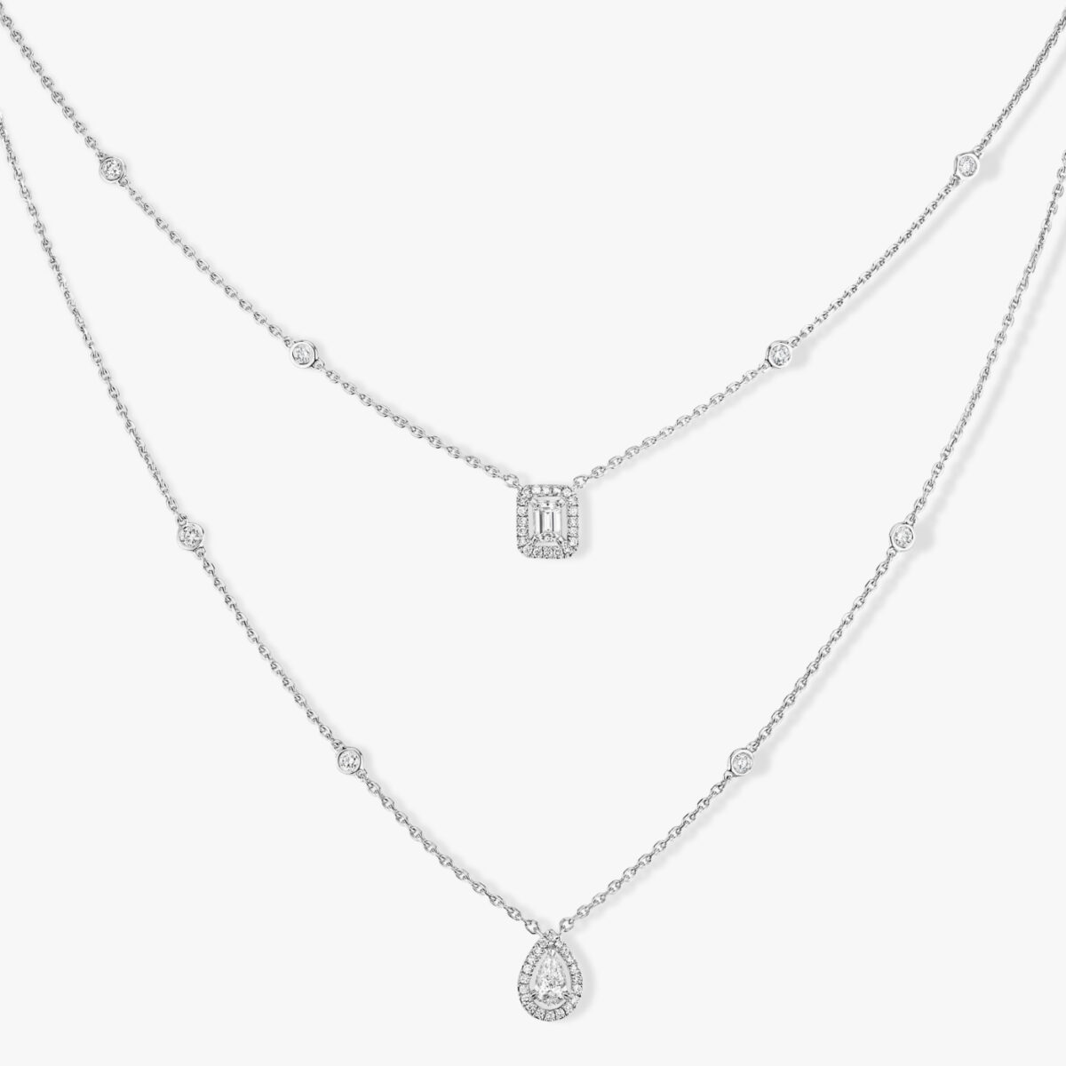 Collier Messika My Twin Or Blanc 06506-WG