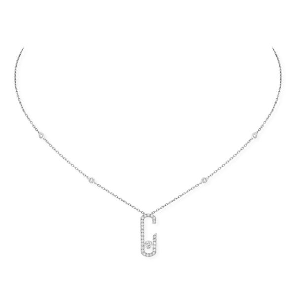 Collier Messika Move Addiction Or Blanc 06814-WG
