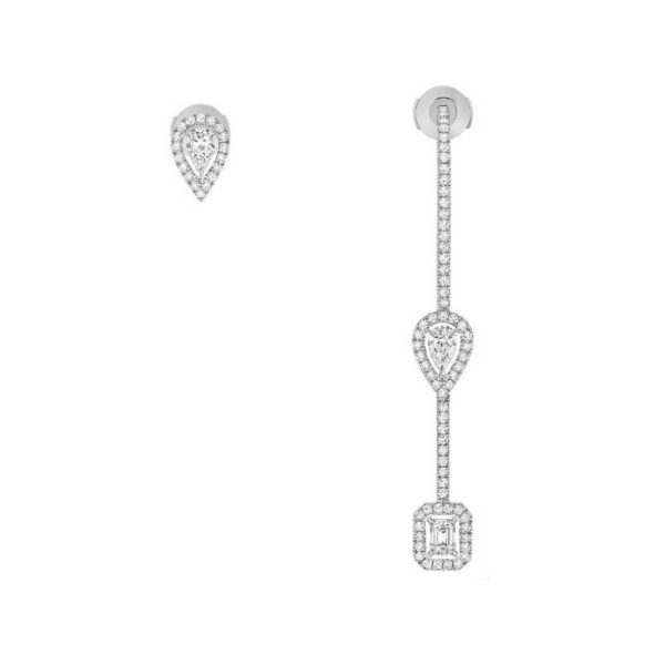 Boucles d'oreilles Messika My Twin Or blanc 07224-WG