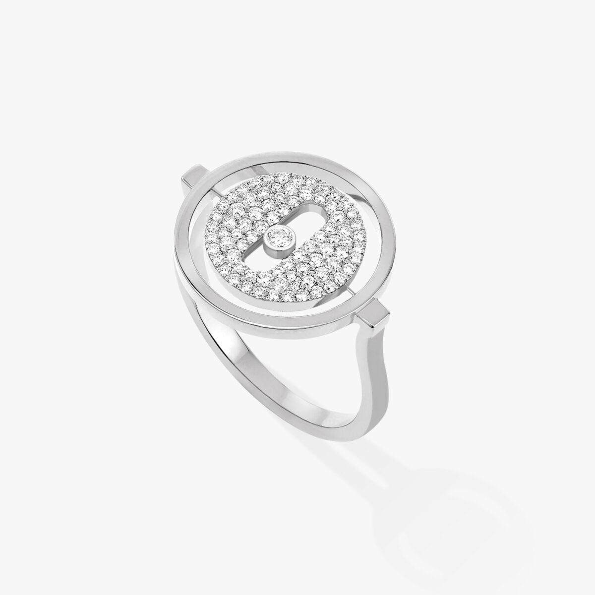 Bague Messika Lucky Move Or blanc 07534-WG