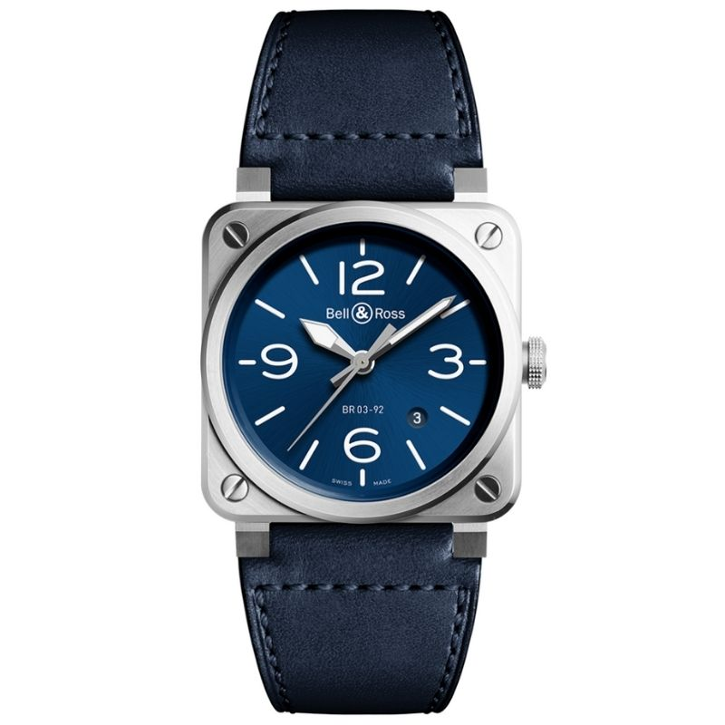 Montre Bell and Ross BR0392-BLU-STSCA