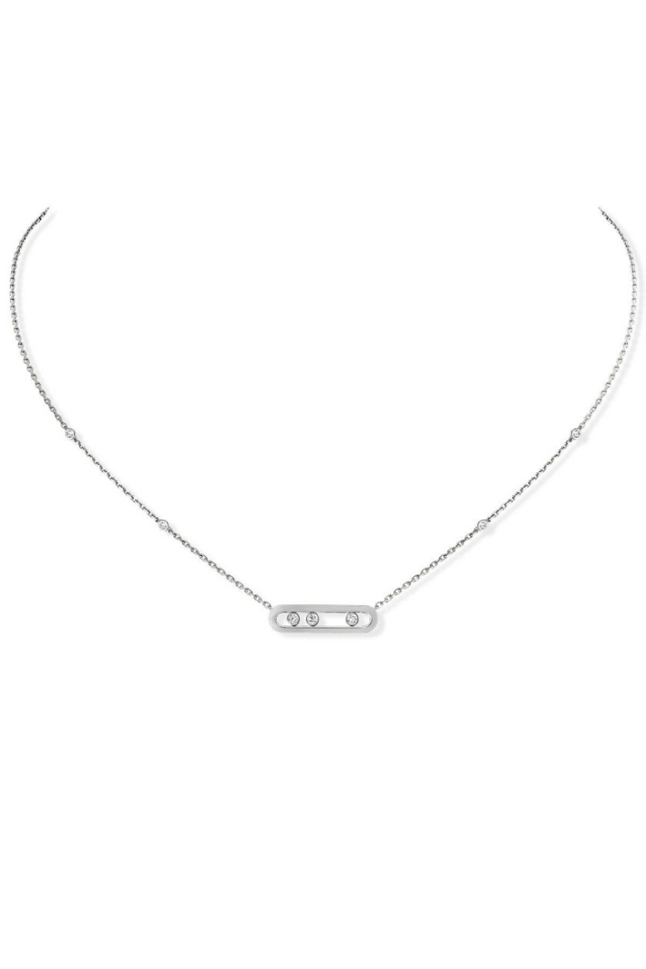 Collier Messika Move Classique Or blanc 03997-WG