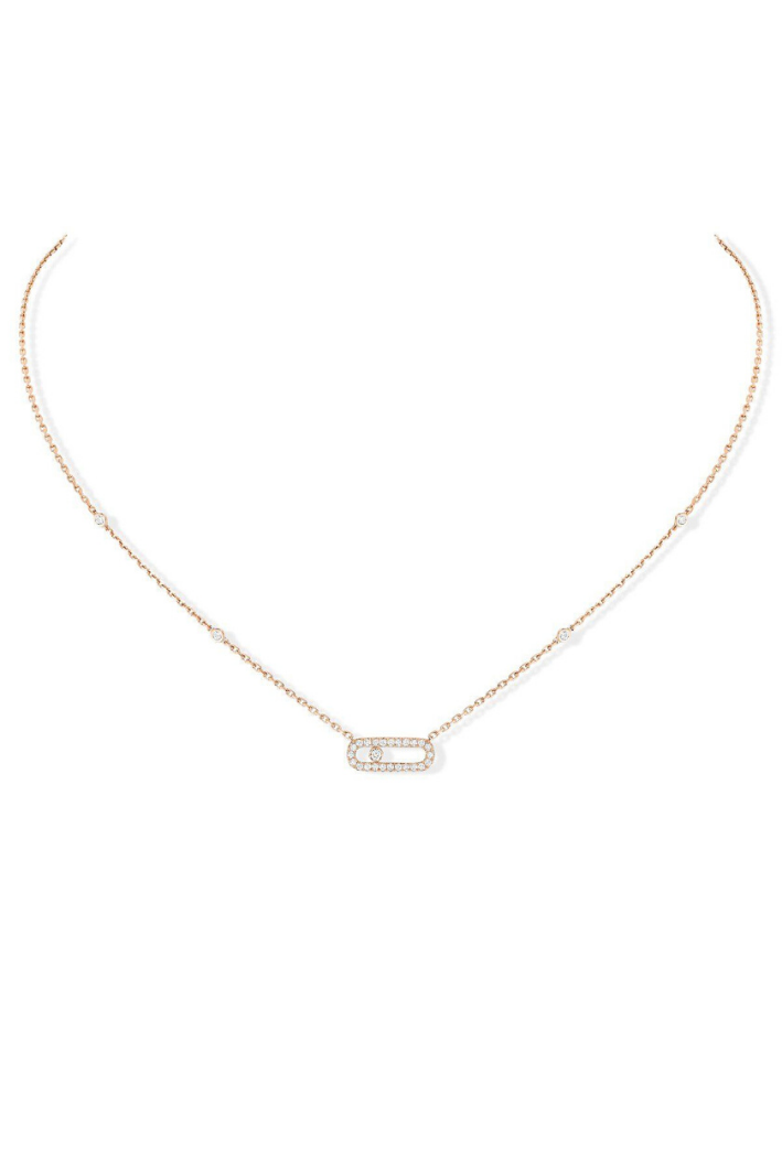 Collier Messika Move Uno Pavé Or Rose 04708-PG
