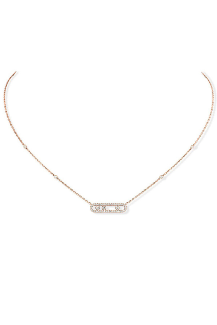 Collier Messika Baby Move Pavé Or rose 04322-PG