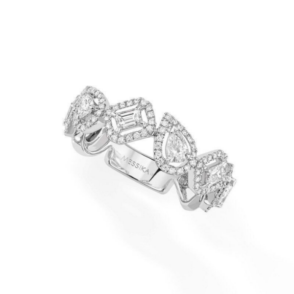 Bague Messika My Twin Or Blanc 06705-WG