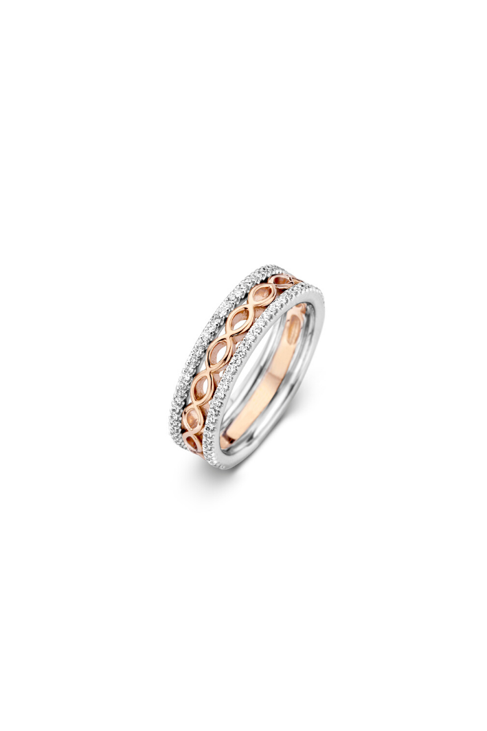Bague One More Ischia Or Blanc & Rose 59251/A