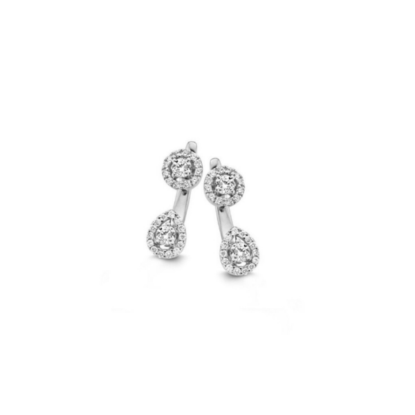 Boucles d'oreilles One More Salina Or Blanc 55982/A