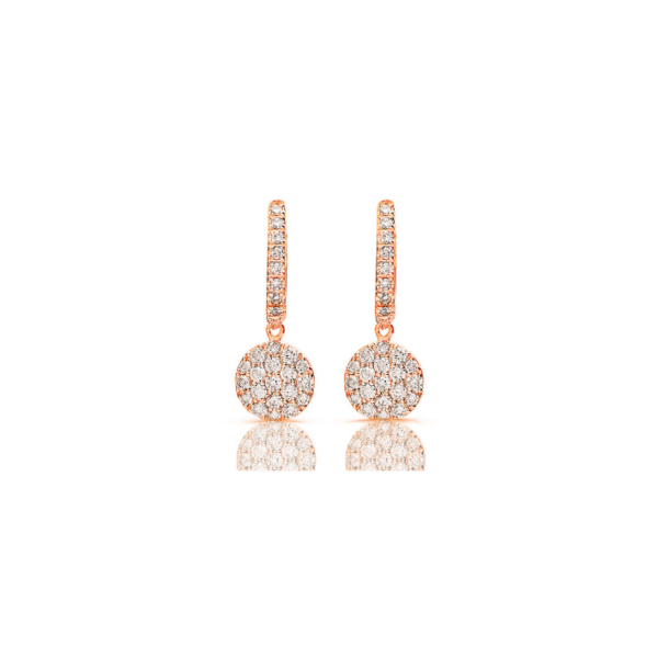 Boucles d'oreilles One More Eolo Or Rose 93AA08