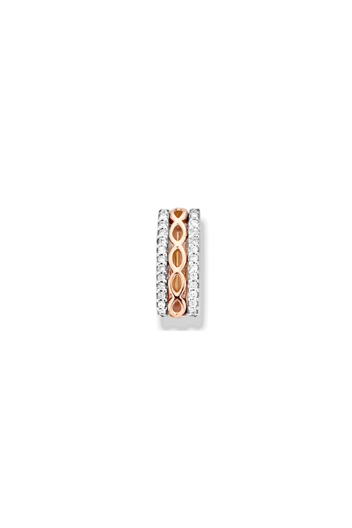 Pendentif One More Ischia Or Rose & Blanc 59252/a