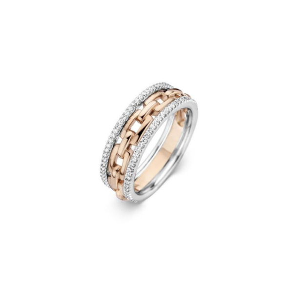 Bague One More Bague Ischia Or Rose & Blanc 059333A
