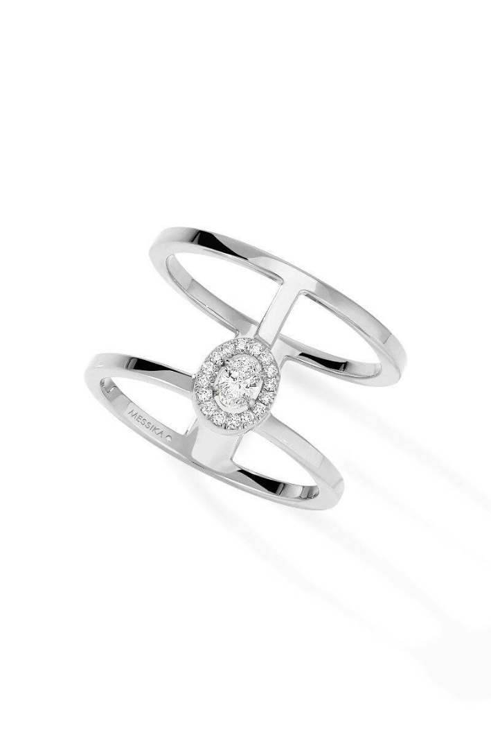 Bague Messika Glam'Azone Or blanc 06173-WG