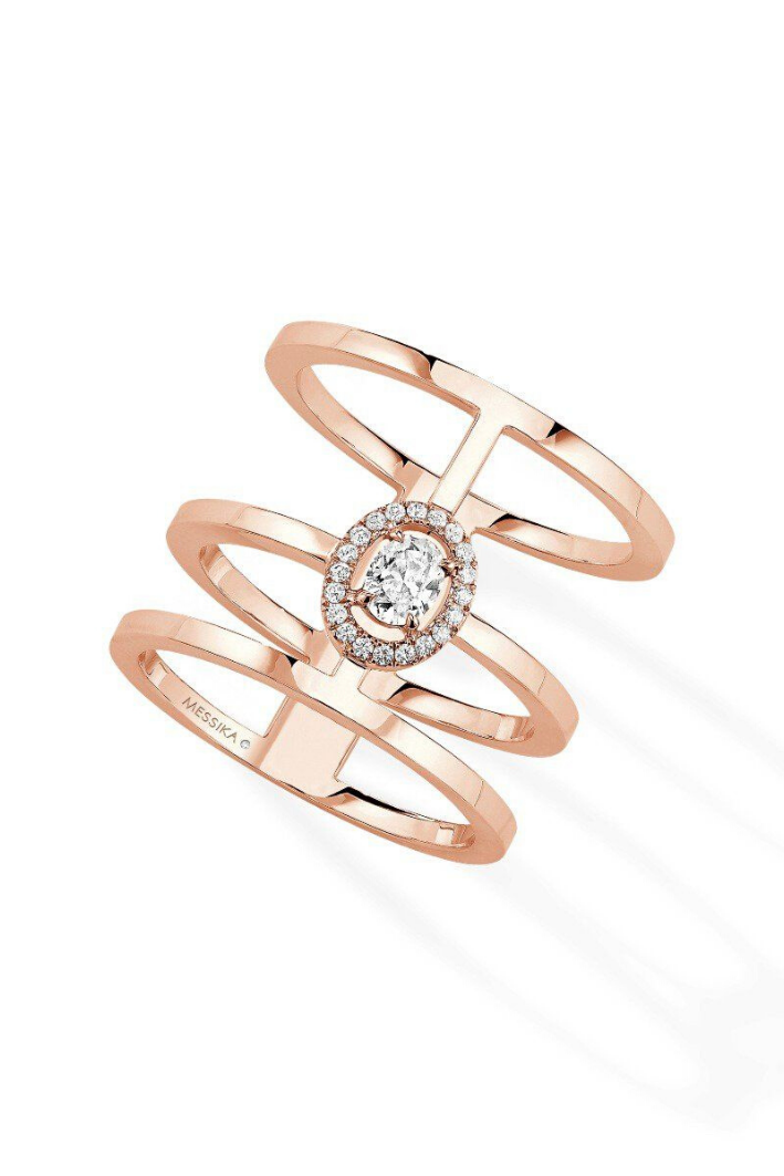 Bague Messika Glam'Azone Or Rose 06312-PG