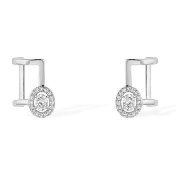 Boucles d'oreilles Messika Glam'Azone Or Blanc - 06174-WG