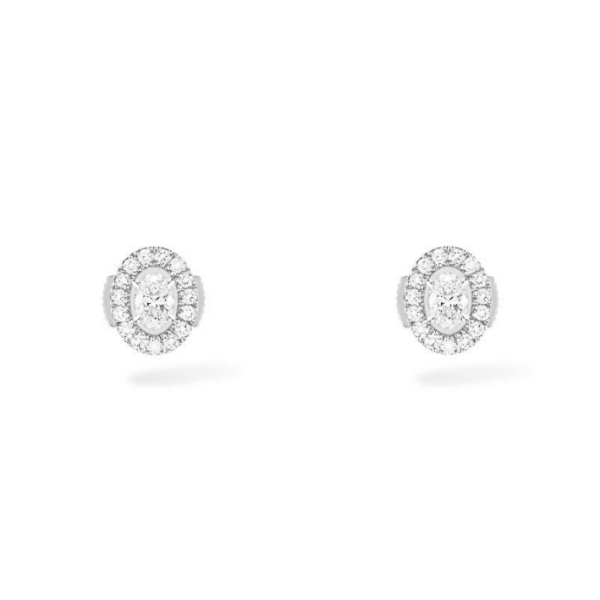 Boucles d'Oreilles Messika Glam'Azone Or Blanc - 07160-WG
